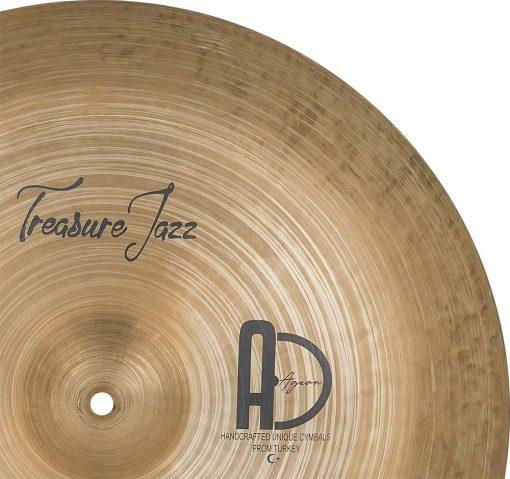 "Best Cymbals Company Treasure Jazz China cymbal 2 510x479 - AGEAN Cymbals 14"" Treasure China"