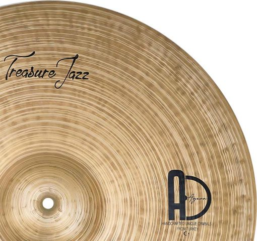 "Ride Cymbals Treasure Jazz Ride 4 510x480 - AGEAN Cymbals 20"" Treasure Ride"