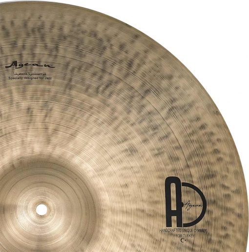 "Special Jazz Ride cymbals 2 510x517 - AGEAN Cymbals 24"" Special Jazz Ride"