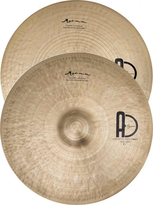 "best turkish jazz cymbals special Jazz Hi Hat 510x684 - Agean Cymbals  SPECIAL JAZZ SET - 20"" Ride, 16"" Crash, 14"" Hi-Hat"