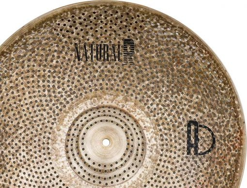 "low volume cymbals Natural R Ride 3 510x388 - AGEAN Cymbals 18"" Natural R Low Noise Ride"