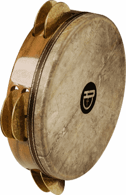 5 247x381 - Agean Pro Tunable Riq With Fish Skin And Hand Hammered Bells - 23 Cm