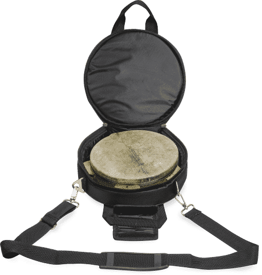 DSC04046 510x534 - Agean Pro Tunable Riq With Fish Skin And Hand Hammered Bells - 22 Cm